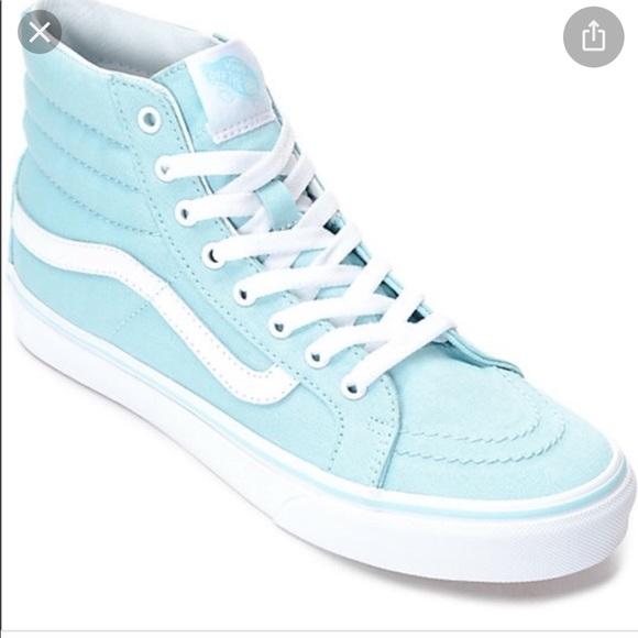 Vans Shoes   Light Blue High Top Vans